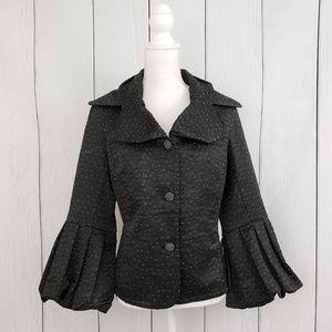 Black Dotted Blazer Jacket